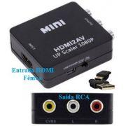 Conversor HDMI para RCA audio e video  HDMI2AV
