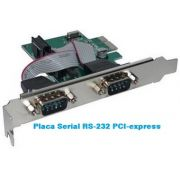 Placa Serial RS-232 DB9 macho PCI-express X1