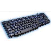 Teclado gamer Semi Mecânico Hydra PT e led azul