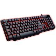 Teclado gamer semi mecânico Hydra PT e led vermelho