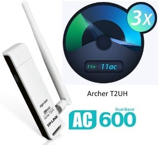 Adaptador USB Wireless AC600 Archer T2UH Dual Band TP-Link
