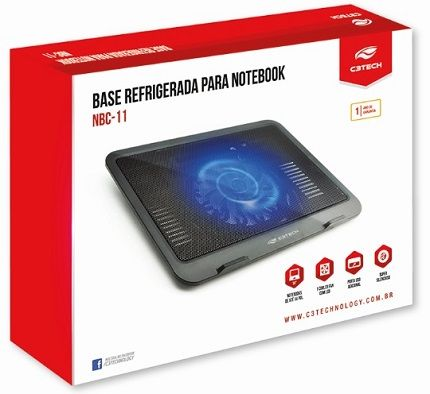 Base refrigerada para notebook 14P NBC-11 C3Tech