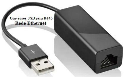 Cabo conversor USB-AM para rede Ethernet-RJ45