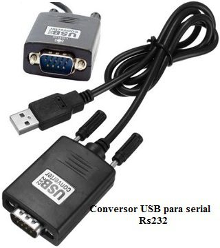 Cabo Conversor USB para serial RS232-macho