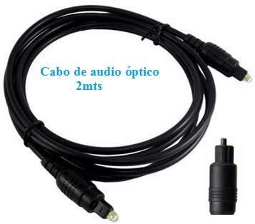 Cabo óptico para áudio digital 2mts