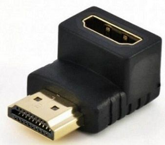 Conector emenda HDMI-macho para HDMI-fêmea em L- 90º