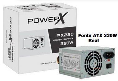 Fonte ATX 230w PowerX mod:Px230