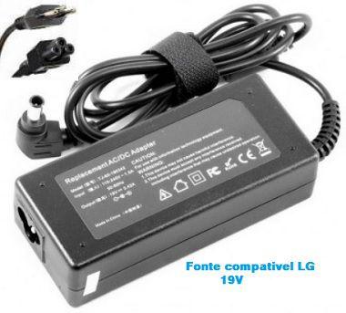 Fonte carregador notebook LG 19V | R490 | R510 | R580