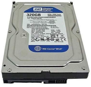 HD 320GB-Desktop Western Digital Sata WD3200AAKS