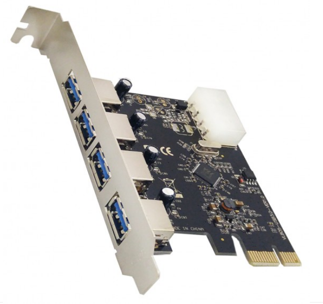 Placa PCI-e USB com 4 portas USB-3.0