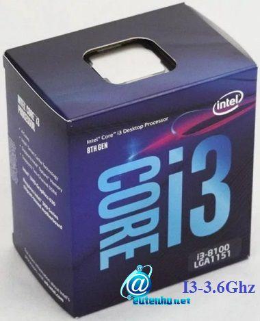 Processador Intel i3-8100 Coffee Lake 8a Geração-BX80684I38100