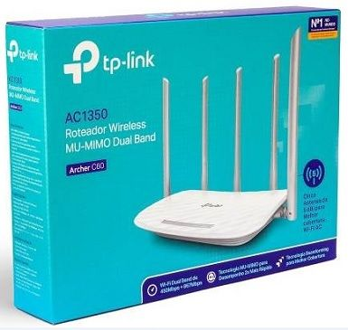 Roteador Wireless AC1350Mbps Archer C60 Dual Band TP-Link 5-antenas