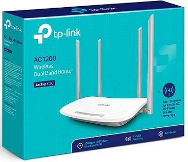 Roteador Wireless AC1200 Archer C50 Dual Band 04 antenas TP-Link