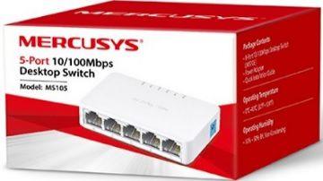 Switch 5 Portas Mercusys MS105 10/100Mbps
