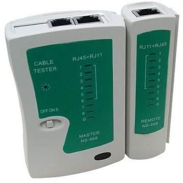 Testador de cabo de rede RJ45 e RJ11.