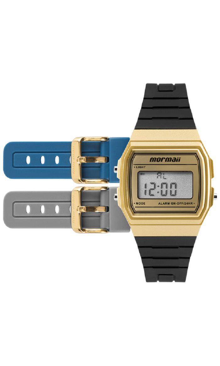 29c6d769496 Kit de Relógio Mormaii Unissex Troca Pulseira Digital MOJH02AF 8D ...