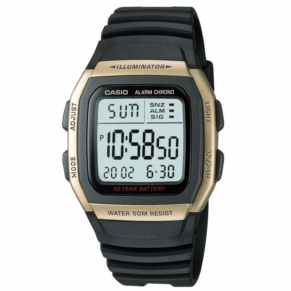 f3c08f4973a Relógio Casio Digital W-96H-9AVDF Preto