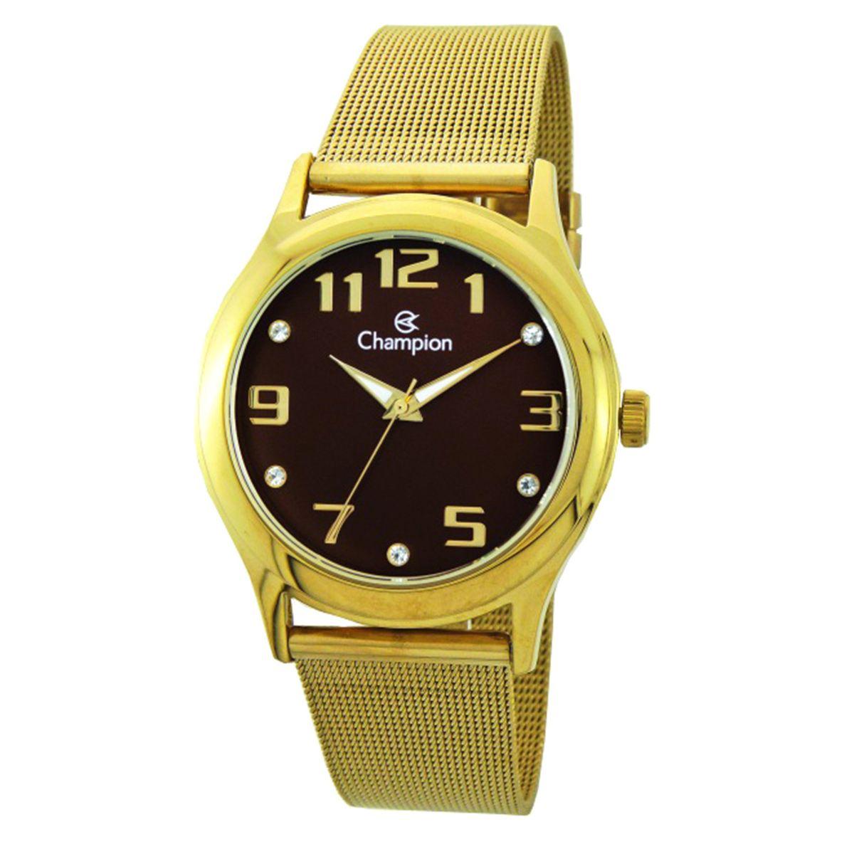 02e530c1c21 Relógio Champion Analógico Feminino CN29007R Dourado