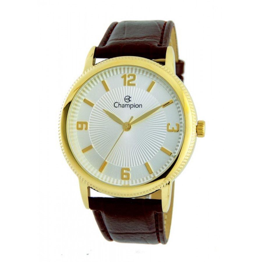 acbde2c7110 Relógio Champion de Couro Unissex CN20408S Marrom
