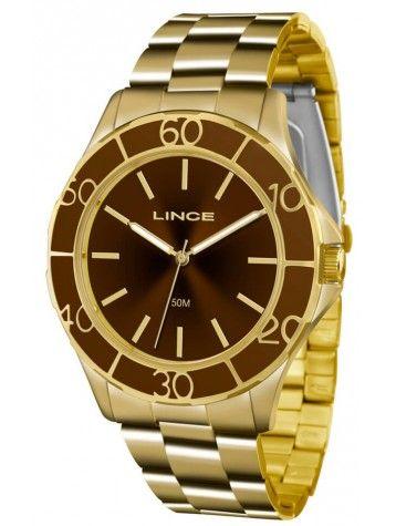 984b182388a Relógio Lince Feminino LRGJ067L Dourado