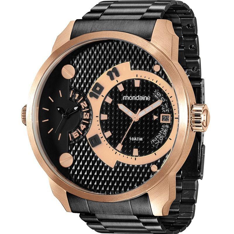 relógio masculino kors michael mondaine dourado azul analógico c14436cec3