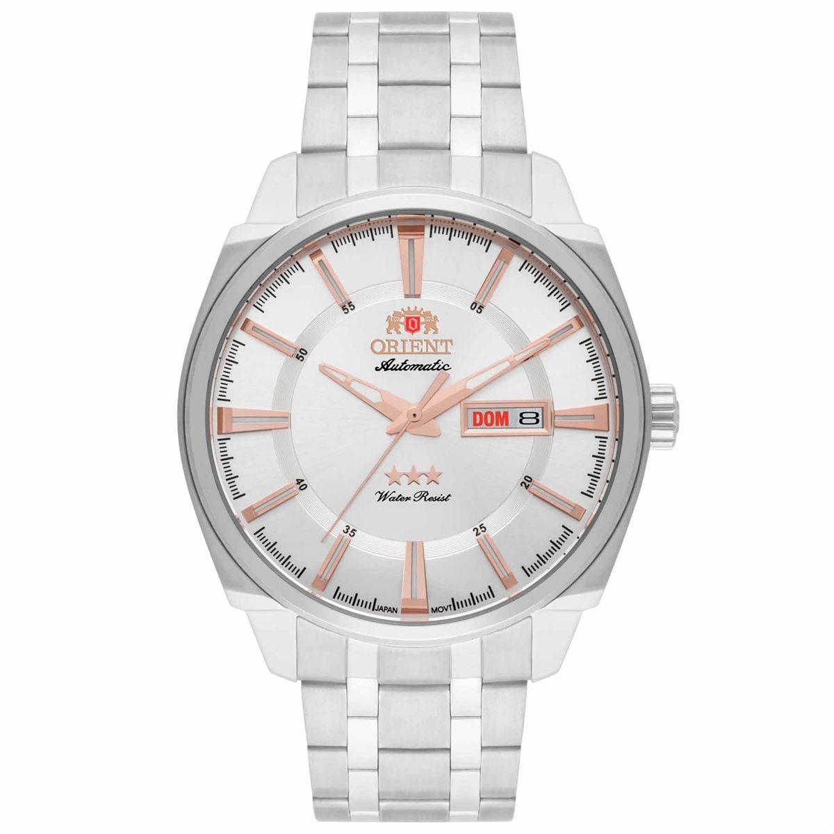 0a77d6976c8 Relógio Orient Automático Masculino 469ss072 S1sx Prata