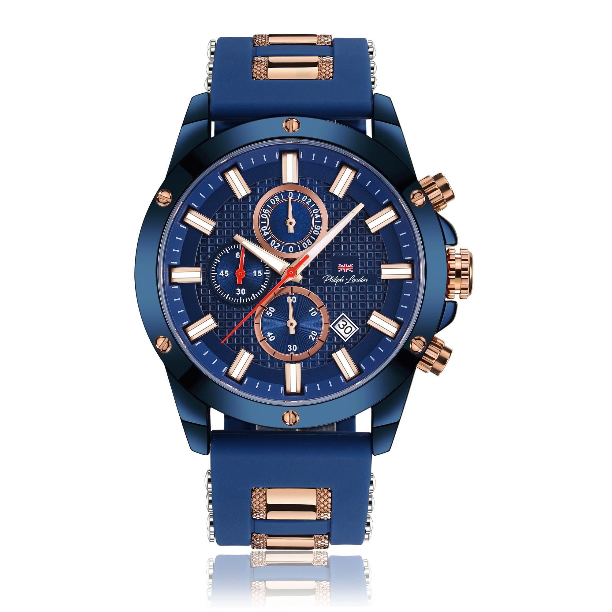 a87281fa6df Relógio Philiph London Masculino PL80070612M