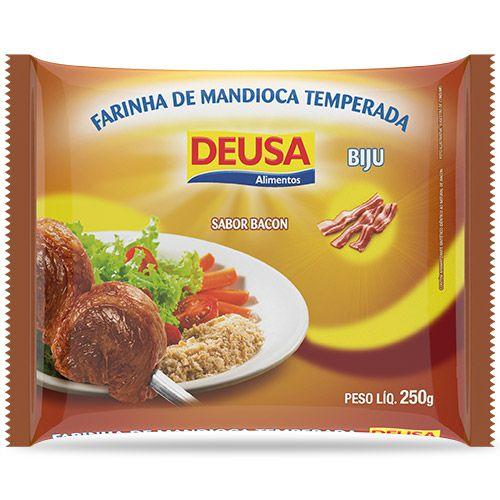 Farinha de Mandioca Temperada Biju Sabor Bacon 250g