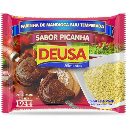 Farinha de Mandioca Temperada Biju Sabor Picanha 250g