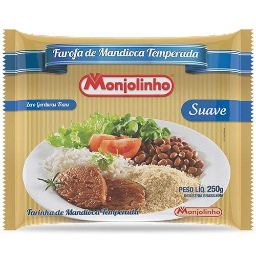 FAROFA DE MANDIOCA SUAVE MONJOLINHO 250G
