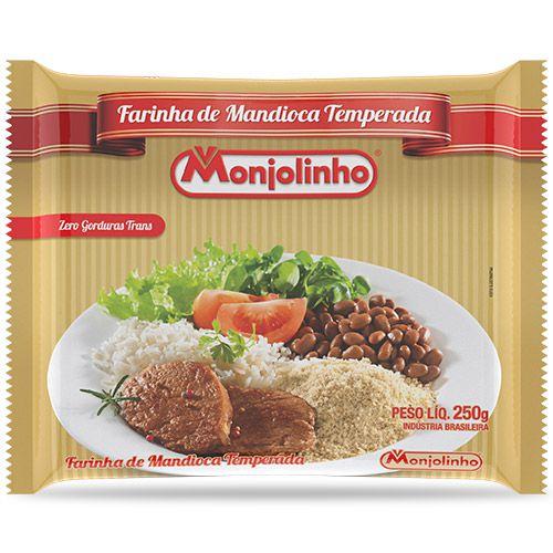 FAROFA DE MANDIOCA TEMPERADA TRADICIONAL MONJOLINHO 250G