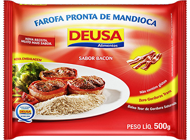 Farofa Pronta de Mandioca Sabor Bacon 500g