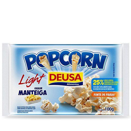 PIPOCA DE MICROONDAS DEUSA SABOR MANTEIGA LIGHT