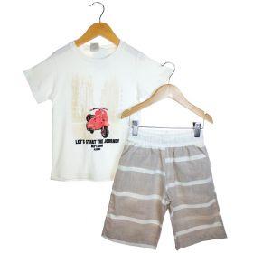 Conjunto Alekids  Camiseta Bermuda