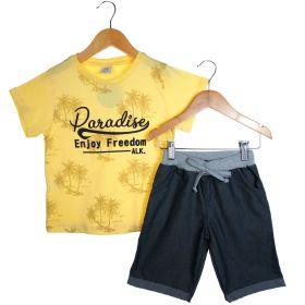 Conjunto Alekids  Camiseta Bermuda Paradise