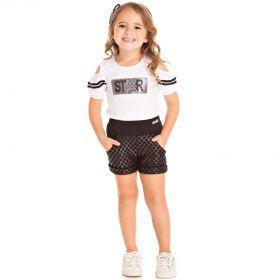 Conjunto Infantil Pic Nic Blusa e Shorts