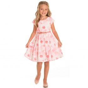 Vestido Infantil Minimour Cetim Poá