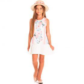 Vestido Infantil Pic Nic em Poly Acetinado