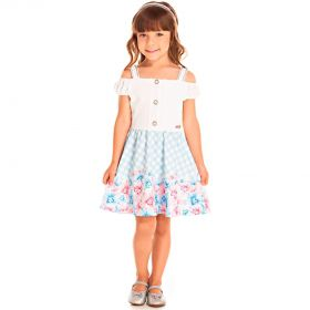 Vestido Infantil Pic Nic Jacquard Memphis