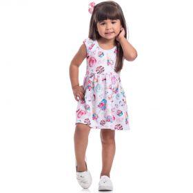 Vestido Infantil Randa Mundu Jacquard