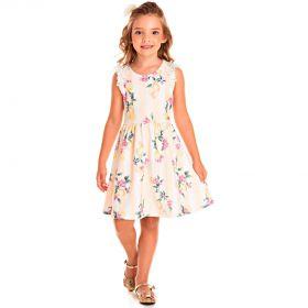 Vestido Pic Nic Infantil Jacquard Floral