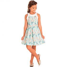Vestido Pic Nic Infantil Jacquard Merona