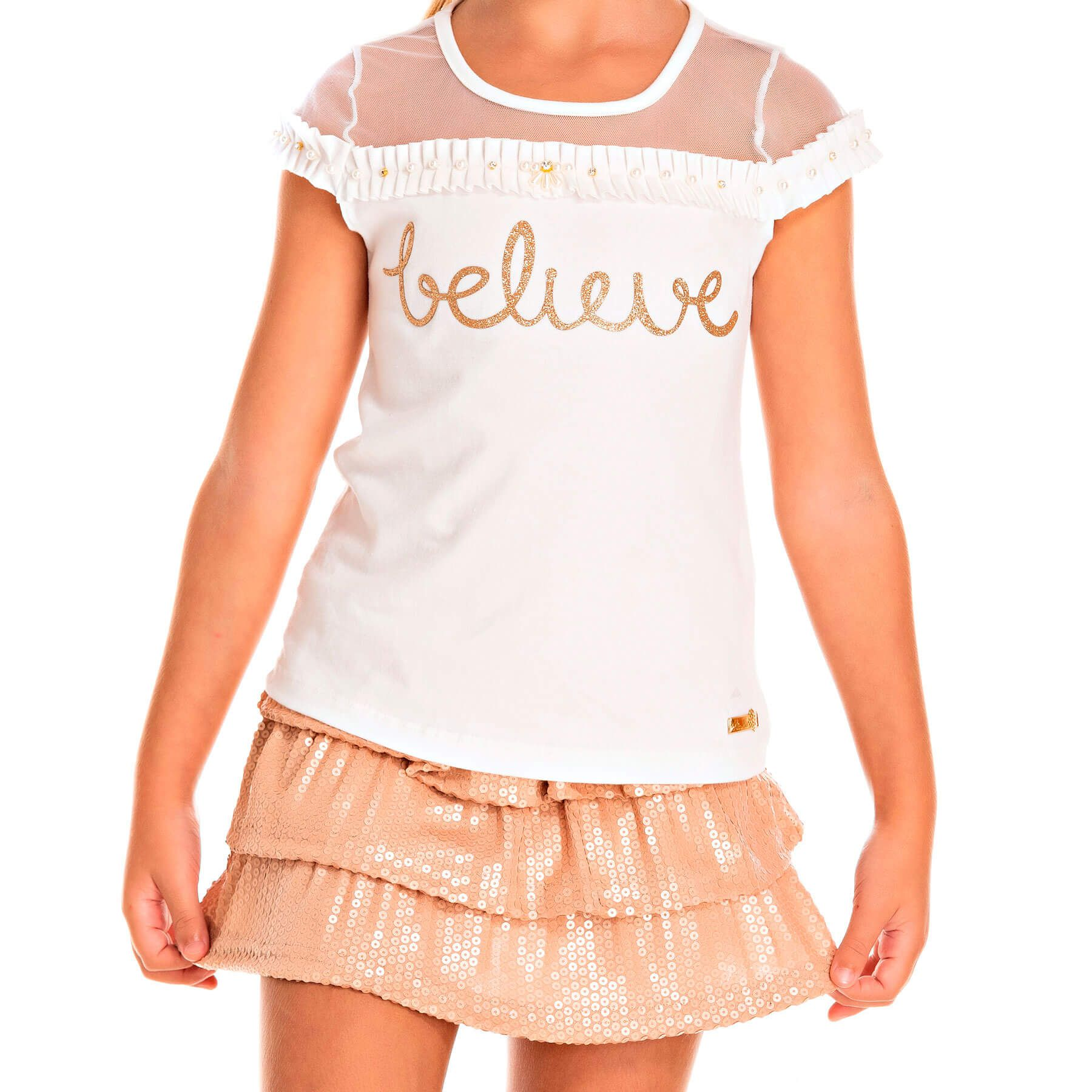 Blusa Infantil Pic Nic  Cotton Tulle