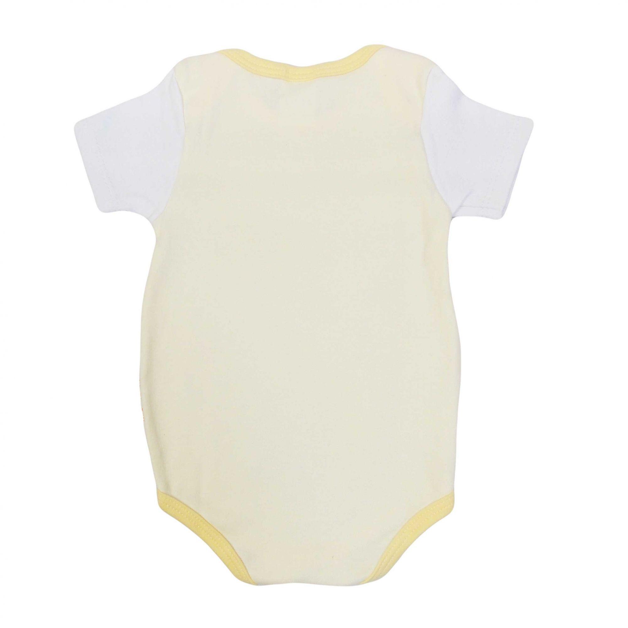 Body Bicho Molhado Bebê Manga Curta Ursinhos