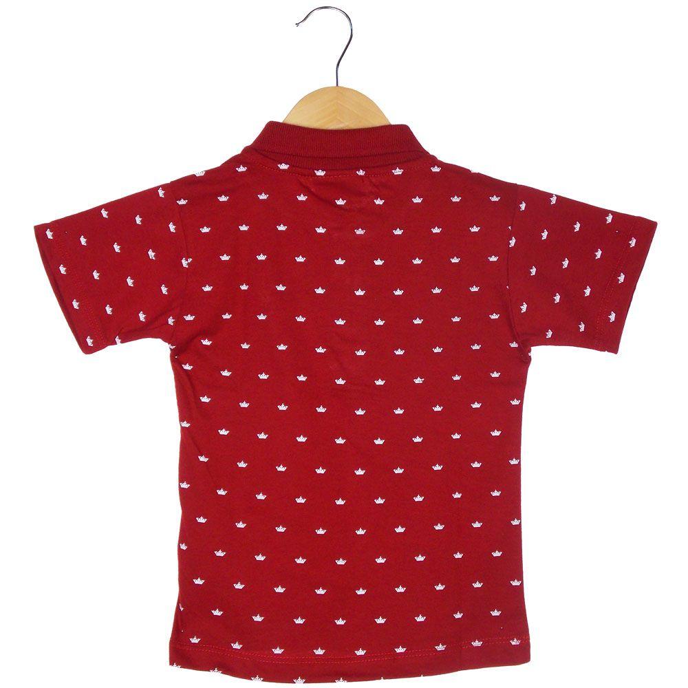 Camisa Pólo G-91 Estampa Corôa Bordado