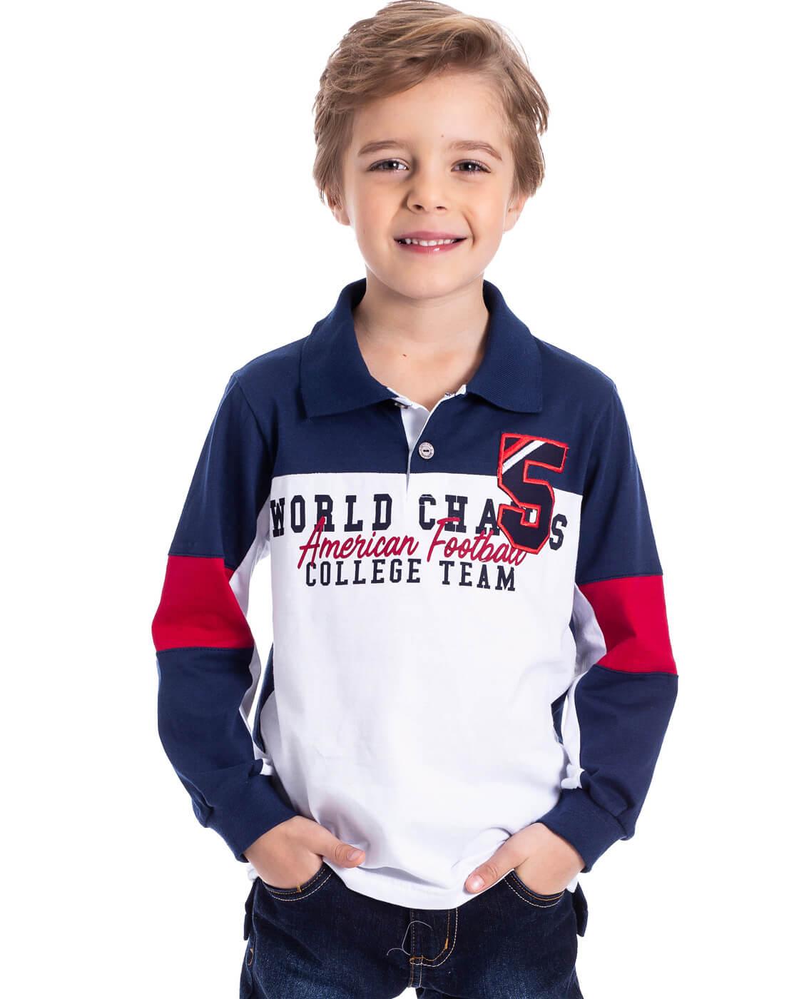 Camiseta Infantil Serelepe Pólo Champs