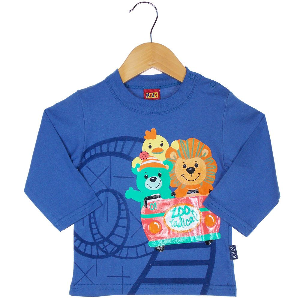 0d913900bc camiseta infantil manga longa kyly azul