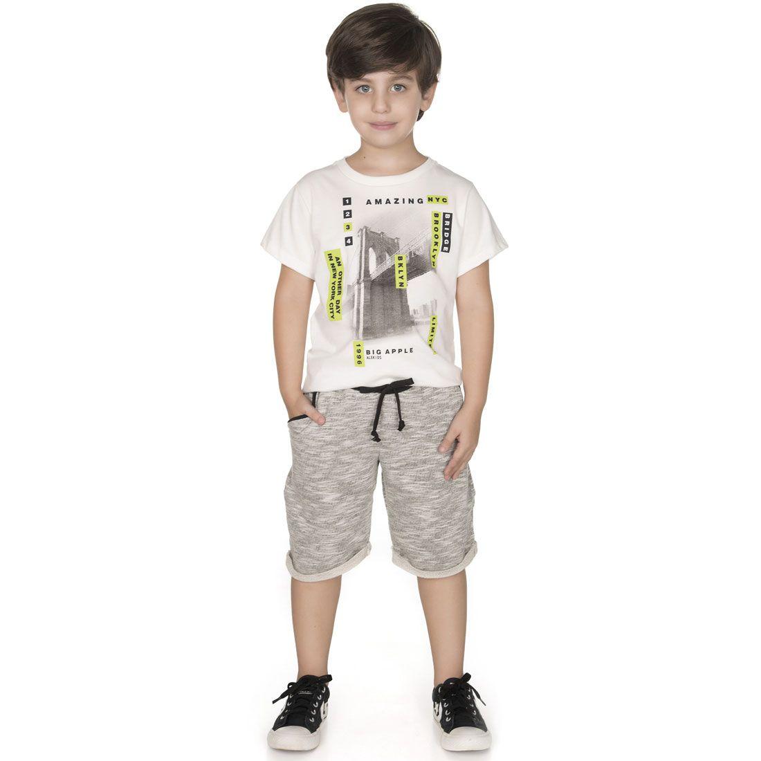 Conjunto Alekids  Camiseta Bermuda Amazing