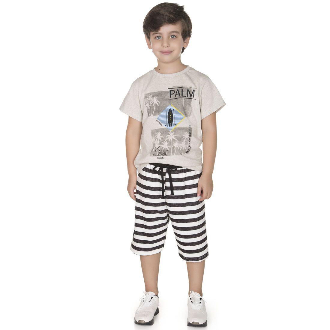 Conjunto Alekids  Camiseta Bermuda Palm