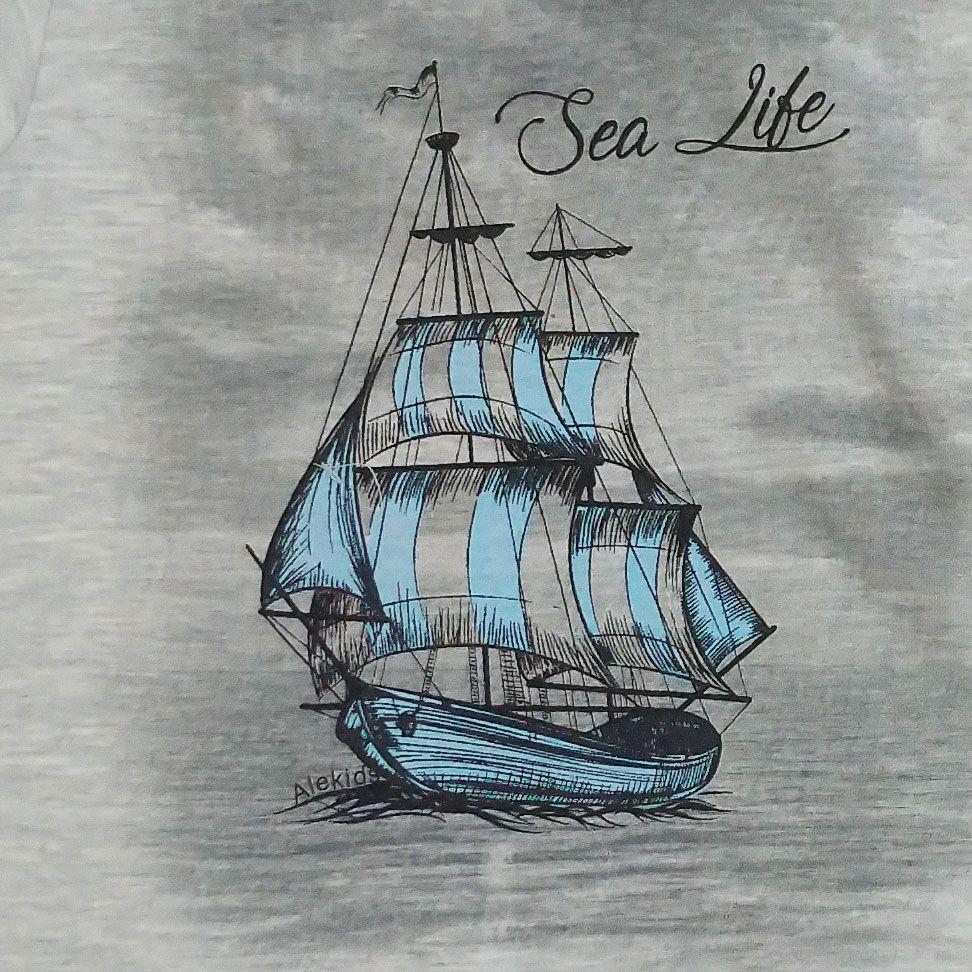 Conjunto Alekids  Camiseta Bermuda Sea